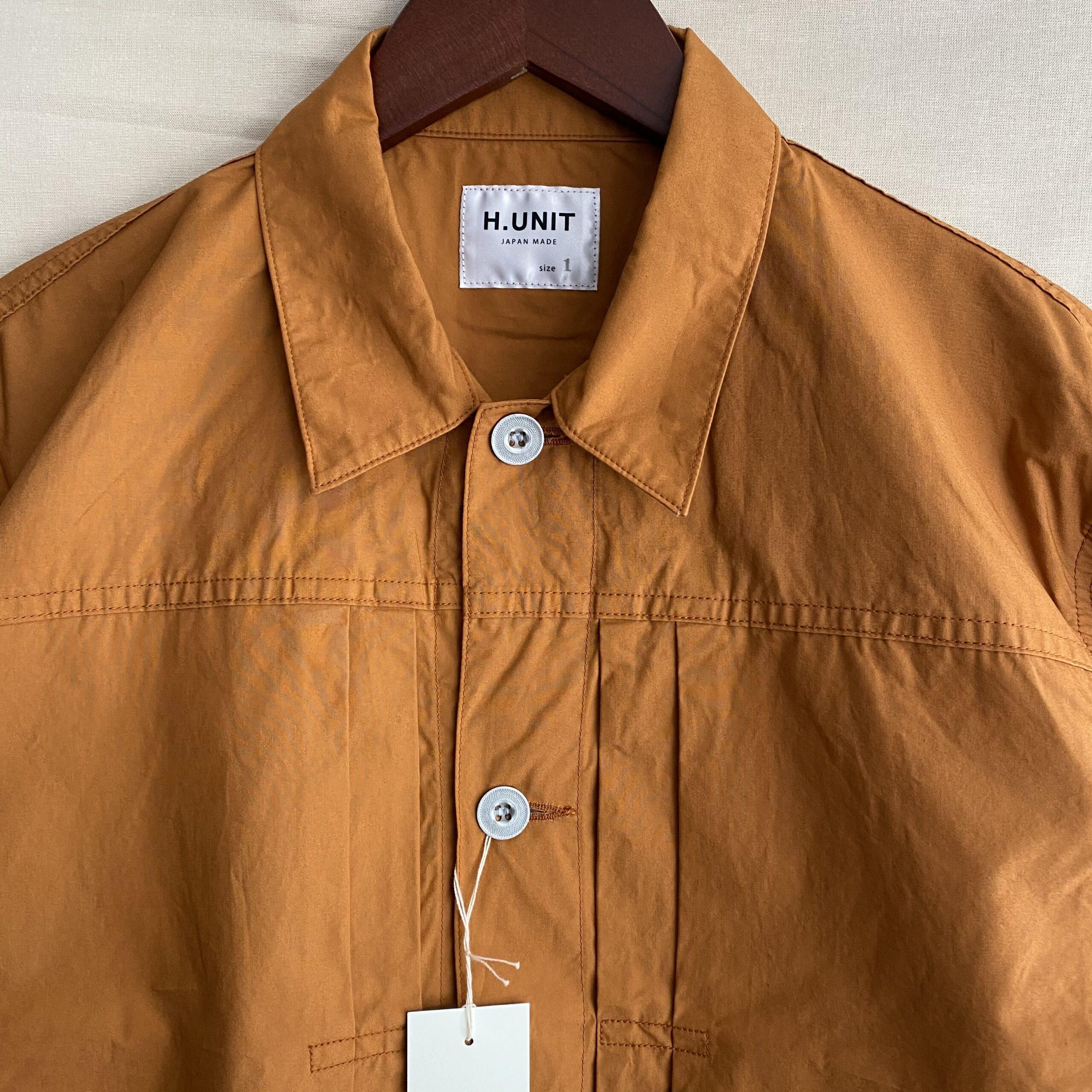 【H.UNIT】Typewriter work jacket/便利なシャツジャケット登場です。