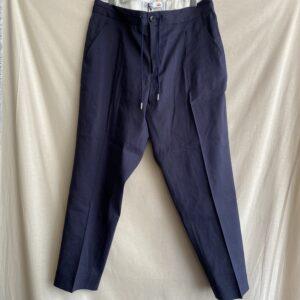 【melple】Tomcat Vacation Relax Pants-Linen Navy