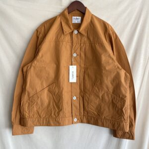 【H.UNIT】Typewriter work jacket Amber