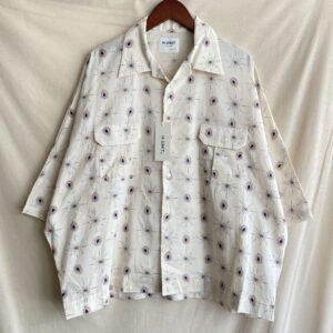 【H.UNIT】Paisery print dolman opencollor S/S shirt Off white