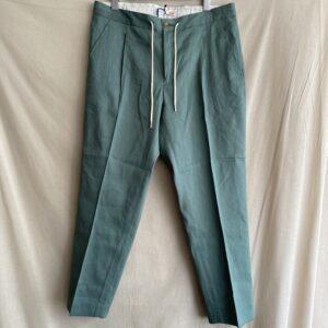 【melple】Tomcat Vacation Relax Pants-Linen Green