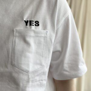 """YES""刺繍"