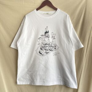 """【amne】H_s tee """"OYSTER"""" White"""