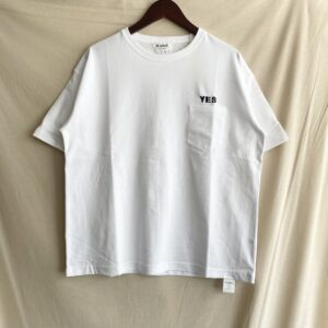 【H.UNIT】YES 刺繍 pocket tee White