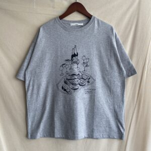 """【amne】H_s tee """"OYSTER"""" Gray"""