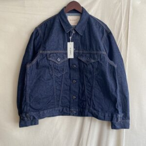 【H.UNIT】Denim trucker jacket Indigo
