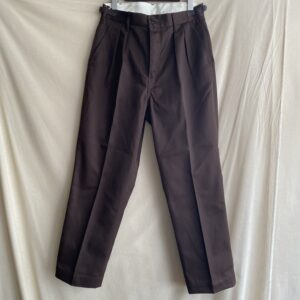 【H.UNIT】T/C Chino two tuck trousers Brown