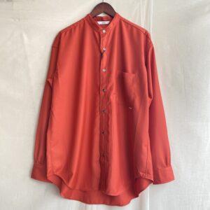 【amne】GABARDINE B.C L_s shirts ORANGE