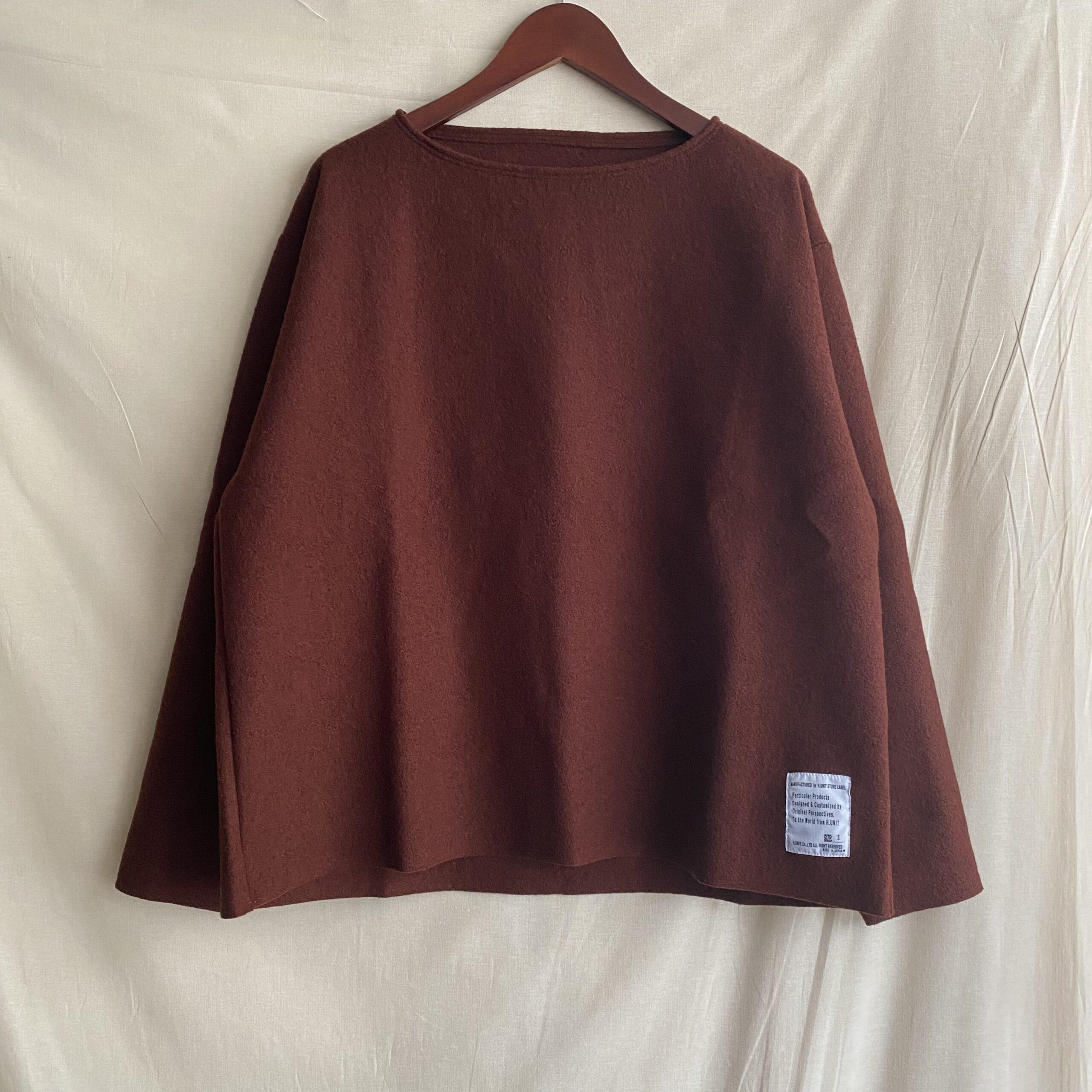 【H.UNIT】帰ってきた、ウール・バスクシャツ。
