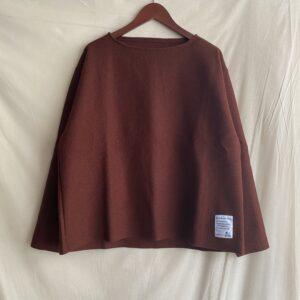 【H.UNIT】Boild wool cut off basque shirt Renga