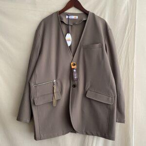 【melple】Wintercat Collarless Jacket Greige