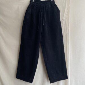 【H.UNIT】Corduroy easy pants Black