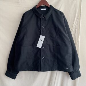 【amne】MOLESKIN crop jacket BLACK