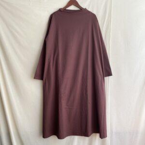 【amne】JERSEY bottle dress CHOCOLATE