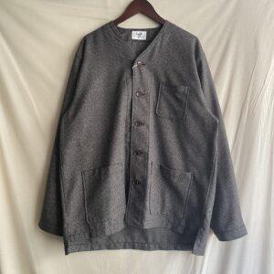 "【weac.】""VICTOR"" Nocollar shirt  GRAY CHECK"