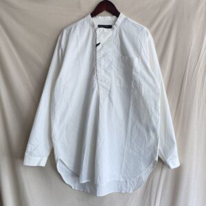 【Audience】コットンシーチングクロス コックオーバーシャツ WHITE